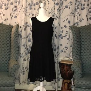 Tommy Hilfiger black dress lace Sz 12